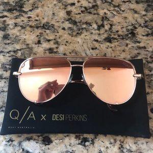 QuayxDesi High Key Gold sunglasses